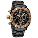 【送料無料】 mens akribos xxiv ak576rg chronograph divers stainless steel bracelet watch