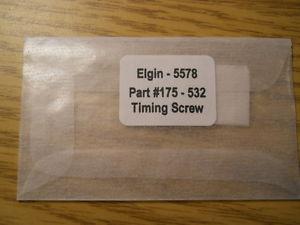 腕時計, 男女兼用腕時計 genuine elgin replacement watch part 175 532 5578 timing screw nos