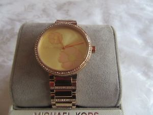 腕時計, 男女兼用腕時計 genuine michael kors courtney pave rose gold tone watch in box 55