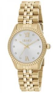 腕時計, 男女兼用腕時計 orologio donna liu jo luxury tiny tlj1137 acciaio gold silver swarovski