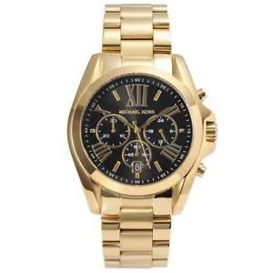 【送料無料】original michael kors damen uhr goldfarben mk5739 chronograph bradshaw neuamp;ovp
