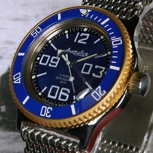 腕時計, 男女兼用腕時計 vostok amphibian,amphibia custom russian auto dive watch, , boxed, uk seller