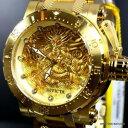 【送料無料】invicta coalition forces dragon 18kt gold plated steel 52mm automatic watch