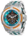 【送料無料】25307 invicta53mm mens jason taylor excursion silver blue inserts steel watch