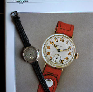 腕時計, 男女兼用腕時計 rare swiss longines i ww cal1334 silver military icers wristwatch 1916