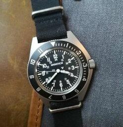 【送料無料】military watch marathon by gallet navigator dive watch h3 hands febr 1991 quartz