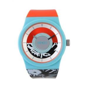 【送料無料】orologio kenzo k0034004 silicone nero arancione celeste wr 50mt colorato paris