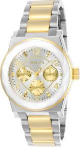 腕時計, 男女兼用腕時計 invicta womens angel quartz chrono 100m two tone stainless steel watch 22259