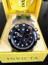 【送料無料】invicta 0077 mens pro diver chronograph stainless steel watch