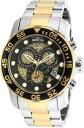 【送料無料】invicta 19839 gents pro diver two tone bracelet chrono dive watch