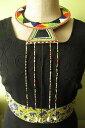 【送料無料】ネックレス collier massai de perles multicolore, ethnique