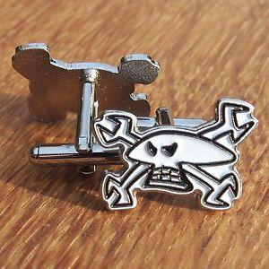 【送料無料】メンズアクセサリ— オートバイライダーシャツエナメルカフスボタンカフスボタンガイマーティンスカルスパナmotorcycle biker shirt enamel cuff links cufflinks guy martin skull amp; spanners