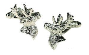 メンズジュエリー・アクセサリー, カフス  onyx art cufflinks stag animal deer head wedding accessory party cuff