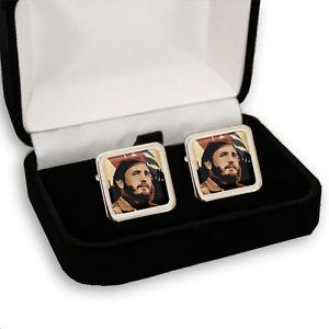 【送料無料】メンズアクセサリ— フィデルカストロキューバメンズカフスボタンボックスfidel castro cuba men's cufflinks gift box engraving