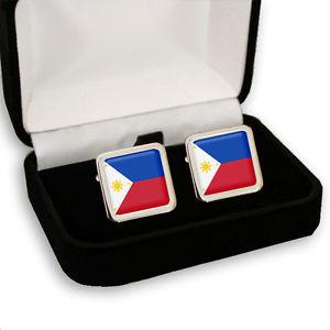 【送料無料】メンズアクセサリ— フィリピンメンズカフスボタンボックスセットphilippines flag men's cufflinks set gift box engraving