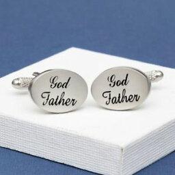 【送料無料】メンズアクセサリ— カフリンクスイタリックgod father wedding cufflinks oval italics