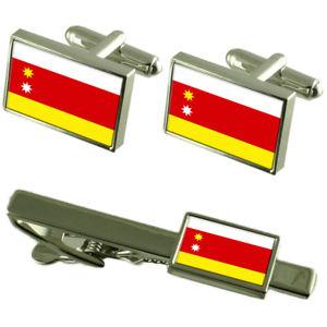 【送料無料】メンズアクセサリ— シティモルドバカフスボタンタイクリップボックスセットorhei city moldova flag cufflinks tie clip box gift set