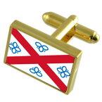 【送料無料】メンズアクセサリ— ペンリスゴールドフラグカフスリンクpenrith city england gold flag cufflinks engraved box