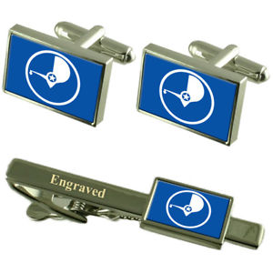 【送料無料】メンズアクセサリ— ヤップカフスボタンタイクリップマッチングボックスyap flag cufflinks engraved tie clip matching box set