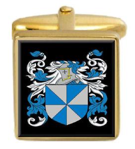 【送料無料】メンズアクセサリ— スコットランドカフスボタンボックスコートsinger scotland family crest surname coat of arms gold cufflinks engraved box