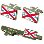 【送料無料】メンズアクセサリ— ペンリスフラグカフスリンクネクタイピンセットpenrith city england flag cufflinks engraved tie clip set