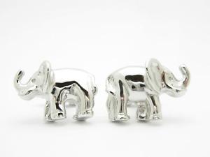 【送料無料】メンズアクセサリ— プラチナスターリング3dカフスリンクplatinum sterling silver custom hand made 3d elephant design cufflinks gift