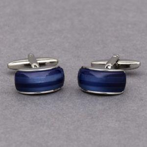 【送料無料】メンズアクセサリ— サファイアカフスボタンravishing sapphire cufflinks