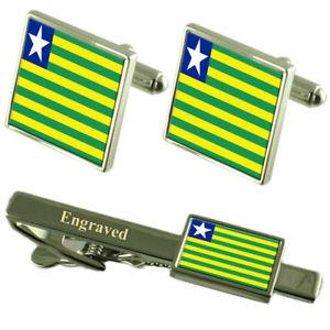 【送料無料】メンズアクセサリ— フラグカフスボタンタイクリップマッチングボックスpiau flag cufflinks engraved tie clip matching box set
