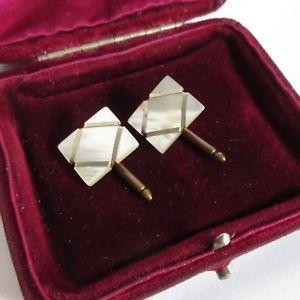 【送料無料】メンズアクセサリ— ヴィンテージカフスリンクスプリングピンfree delivery パールmopc1920vintage cufflinks c1920 mother of pearl mop spring pins free delivery