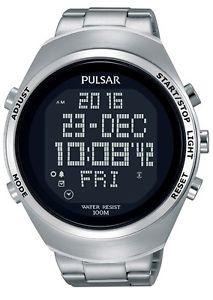 腕時計, 男女兼用腕時計  reloj digital pulsar para hombre crongrafo acero inoxidable de correa pq2055x1 rpp 140