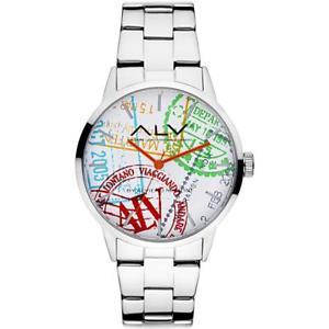 腕時計, 男女兼用腕時計  orologio alv by alviero martini alv0004 bracciale acciaio bianco
