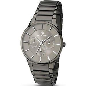 腕時計, 男女兼用腕時計  para hombre accurist london correa negra gris esfera reloj 7038 pvp 9999