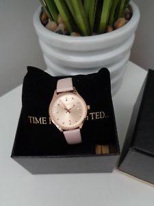 【送料無料】腕時計 ウォッチ ゾーイテッドベーカーレディースピンクゴールドピンクレザーストラップウォッチbnwt ted baker damas zoe rosa oro rosa saffiano reloj con correa de cuero 10030743