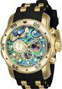 【送料無料】腕時計 ウォッチ プロダイバーストップウォッチスチールポリウレタンクロックアワビinvicta hombres pro diver cronmetro 50m poliuretano s acero abuln reloj 24841