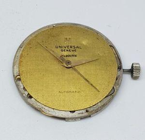 腕時計, 男女兼用腕時計  calibre universal geneve polerouter 215 for parts