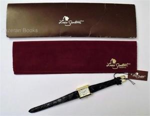 腕時計, 男女兼用腕時計  reloj de cuarzo seoras luis santini oro plateado en funcionamiento y embalaje