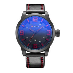 腕時計, 男女兼用腕時計  5xcurren 8241 negro reloj de cuarzo impermeable para hombres calendario inf p3