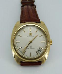 【送料無料】腕時計 ウォッチ raro chapado en oro reloj electrnico movado zenith bulova pedido buen 1 fino en funcionamiento