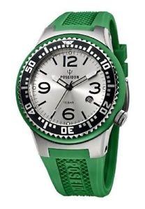 腕時計, 男女兼用腕時計  orologio uomo,poseidon kienzle,00405,large 48 mm,slim,10 atm,verde,silver,diver