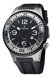 腕時計, 男女兼用腕時計  orologio uomo kienzle poseidon,scuba l 48 mm,spessore slim,13mm,nero argentato