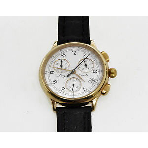 【FREE SHIPPING】Watch Watch Gold Chronograph ++++longines gold charleston chronograph l76252131 excellent