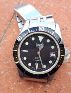 腕時計, 男女兼用腕時計  heuer quartz vintage 980013 leonidas esa 9362 diver watch uhr montre