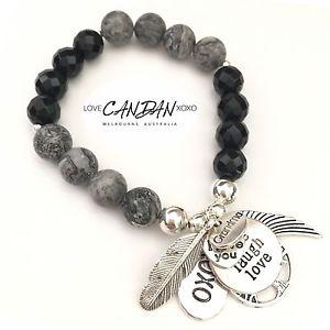 男女兼用アクセサリー, ブレスレット  grandma i love you bracelet with tree of life live love laugh angel gem gift