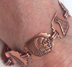 【送料無料】ブレスレット アクセサリ— ブレスレットリンクウィーラーデトックスリウマチcopper bracelet linked wheeler detox arthritis healing folklore cb 275