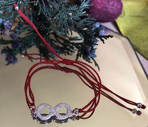 【送料無料】ブレスレット アクセサリ— スターリングシルバーブレスレットブエナsterling silver infinity charm redstring bracelet czpulcera buena suerte