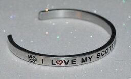 【送料無料】ブレスレット アクセサリ— スコットランドテリアハンドメイドブレスレットi love my scottish terrier handmade amp; polished bracelet
