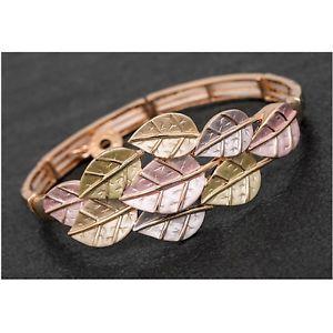 【送料無料】ブレスレット アクセサリ— ローズゴールドメッキミュートトーンリーフブレスレットストレッチequilibrium rose gold plated muted tones leaf stretch bracelet jd284212