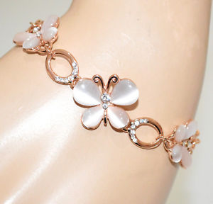 男女兼用アクセサリー, ブレスレット  rose gold bracelet tennis woman rhinestone stones butterfly pendants party gift a23