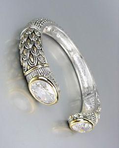 【送料無料】ブレスレット アクセサリ— デザイナーインスピレーションクリアクォーツバリカフブレスレットstunning designer inspired clear quartz cz crystals balinese cuff bracelet