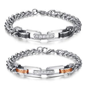 男女兼用アクセサリー, ブレスレット  stainless steel bracelets partner bracelets with zircon filled set very classy pa3
